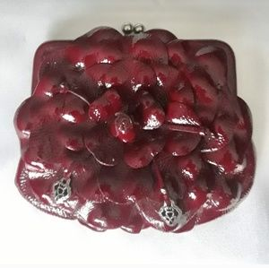 Brighton Crimson Red Patent Leather Crossbody Purs